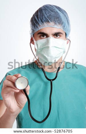 Young medical doctor with stethoscope