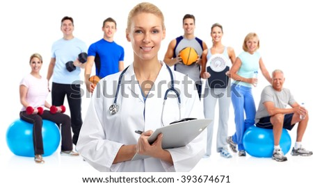 Young medical doctor woman. - stock photo