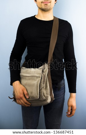 Young messenger - stock photo