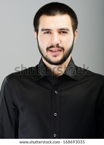 Young Middle eastern young attractive male model posing