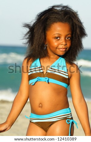 Young Model at the Beach - stock photo