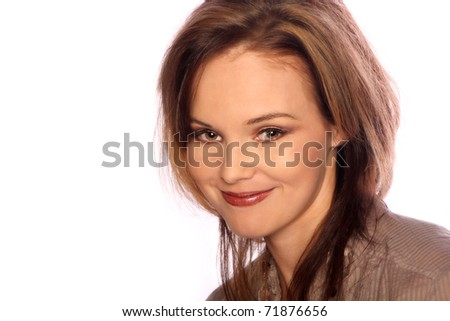 Young model portrait - stock photo