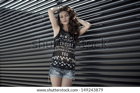 Young model posing - stock photo