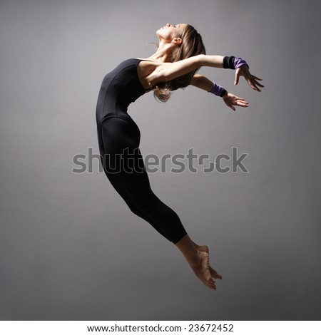 young modern style dancer posing - stock photo