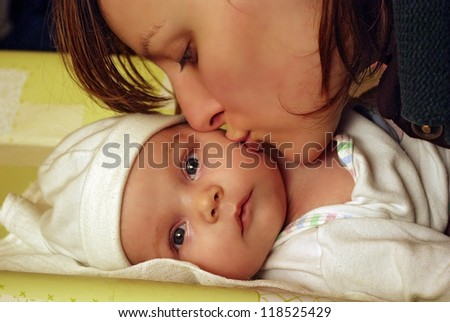 Young Mother and baby