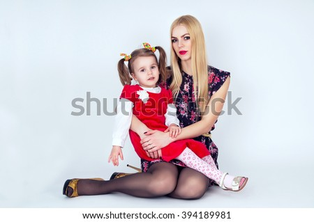 Young mother with a child - stock photo