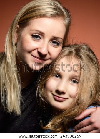 Young mother with daughter. - stock photo