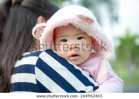 Young mother with her child in morning