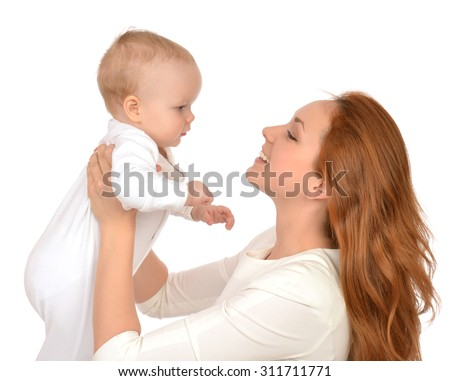 Young Mother Woman Holding Her Arms Stock Photo 241023895 ...
