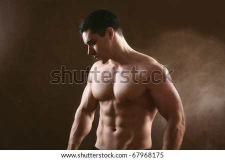 young muscular man