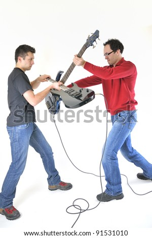 young musicians fighting