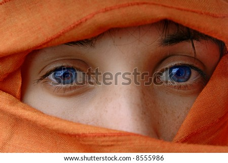 young muslim woman - stock photo