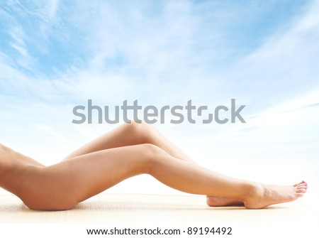 Young naked woman - stock photo