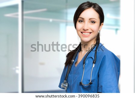 Young nurse portrait - stock photo