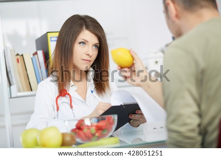 young nutritionist - stock photo