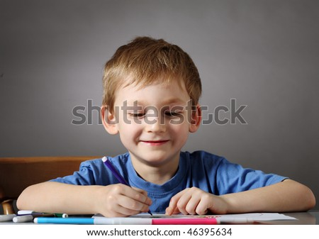 Young painter - stock photo