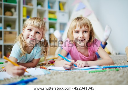 Young painters - stock photo
