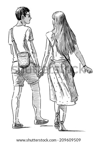 young pair on appointment - stock photo