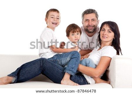 Young parents with children at home.