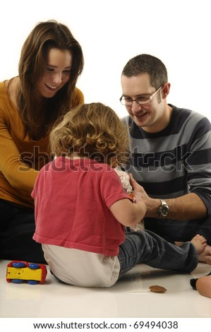 Young parents with kid
