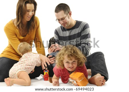 Young parents with kids