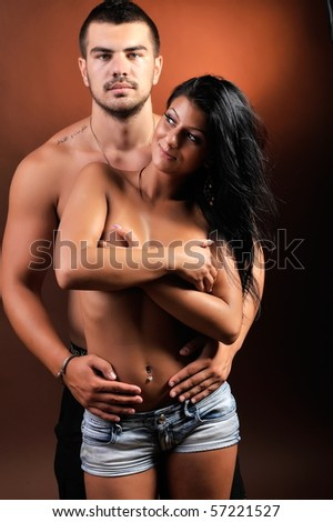 young passionate couple - stock photo
