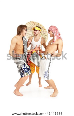 young people are happy and laugh. - stock photo