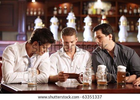 Young people are surprised look on restaurant bill - stock photo