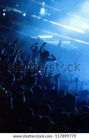 Young people enjoy in the party - stock photo