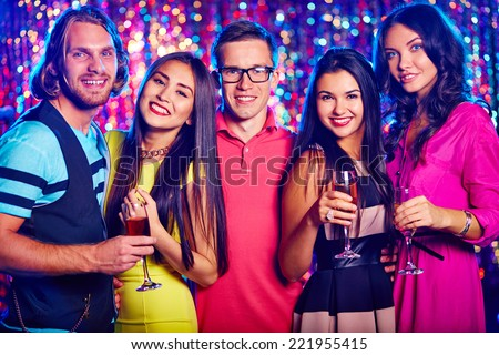 Young people gathering for some occasion - stock photo