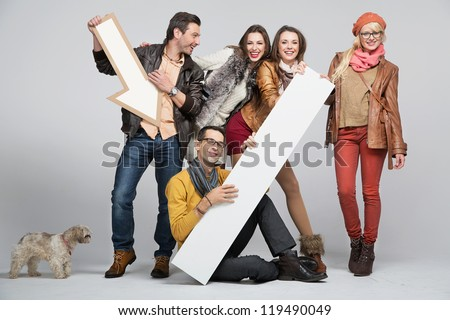 Young people having fun - stock photo