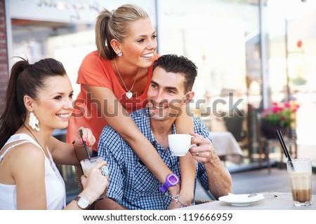 Young people having fun - stock photo