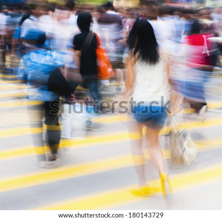 Young People in a Busy Shopping District, Hong Kong