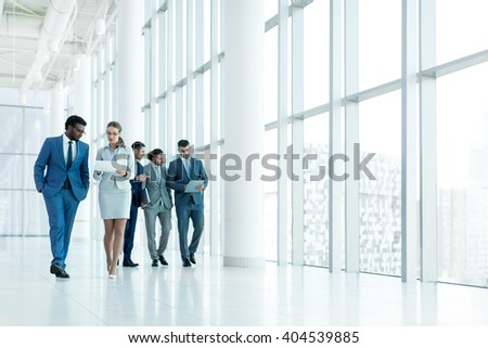 Young people in office - stock photo