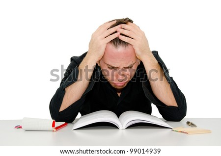 young people studying - stock photo