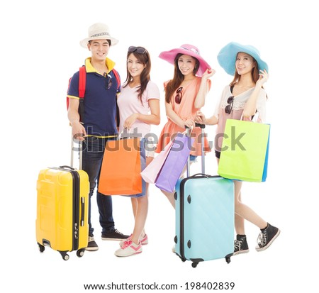 young people travel worldwide and shopping - stock photo