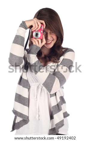 Young Photographer - stock photo