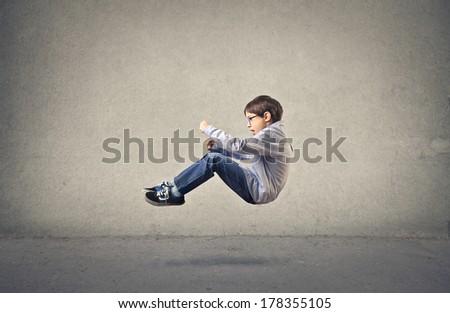 young pilot - stock photo