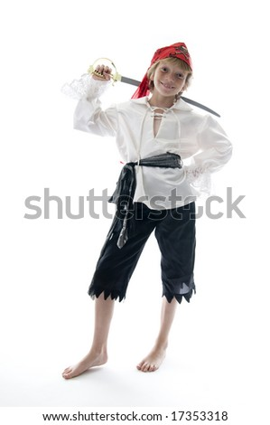 Young Pirate Ready to Pillage and Plunder! - stock photo