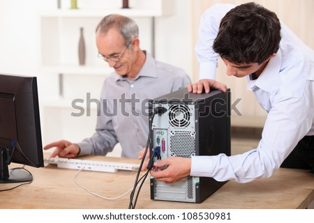 Young plugging computer