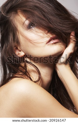young preatty woman - sexy portrait - stock photo