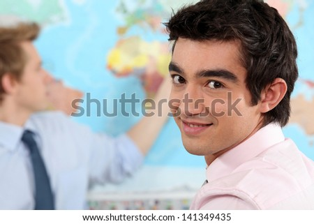 Young professional in a international relations class - stock photo