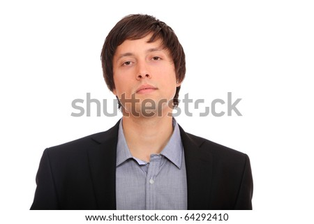 Young professional on a white background