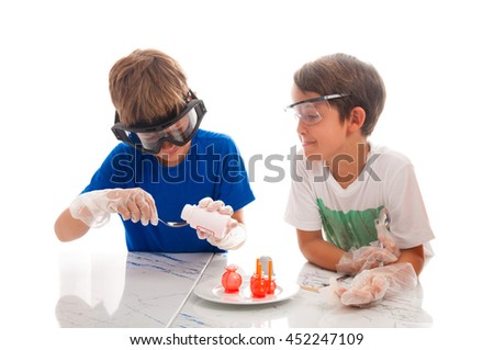 Young researchers experimenting in a lab with making a skipjacks