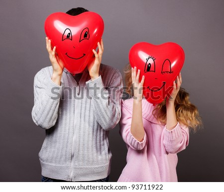 Young romantic valentine's couple