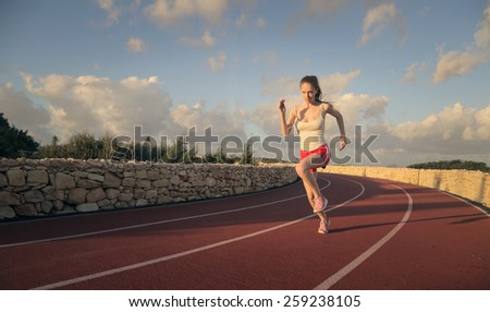 Young runner  - stock photo