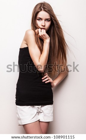 Young sensual girl. - stock photo