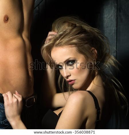Women Naked chest of