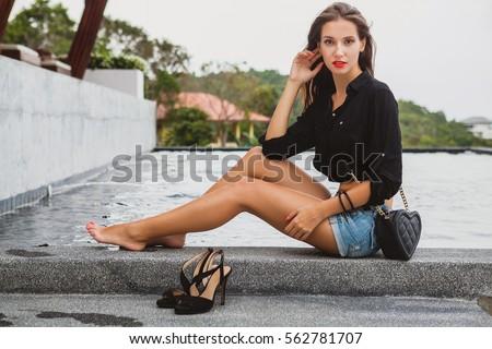Sexy girl high st