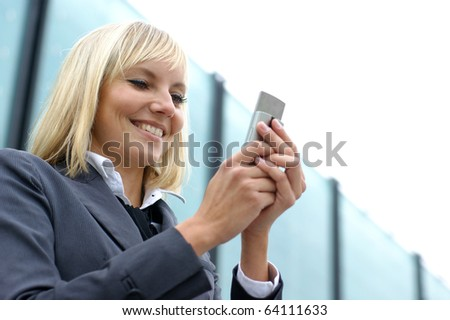 Young sexy business woman - stock photo